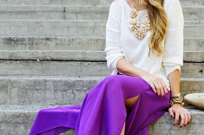 radiant orchid-street style-long skirt-fashion-trends 2014-moda-tendencias 2014-color orquidea-front row blog